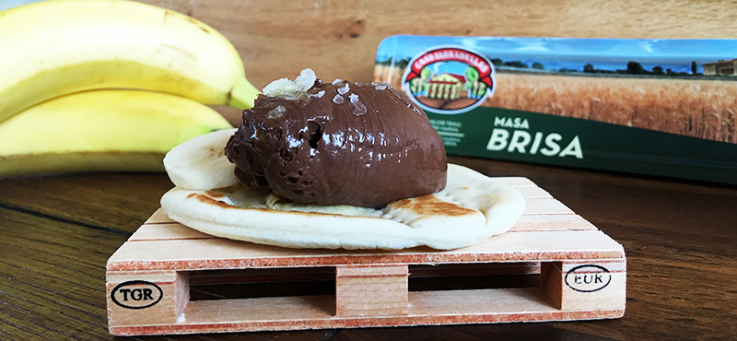 tarta-chocolate-platano-casa-tarradellas-masa-brisa