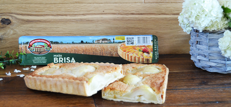 tarta-dulce-peras-rectangular-casa-tarradellas-masa-brisa